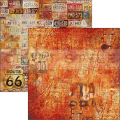 Collateral Rust Collection - papier zestaw 24 arkusze 15x15