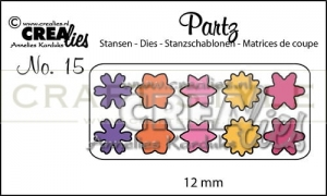 Wykrojnik CreaLies - Partz dies no. 15 Flowers 12 mm