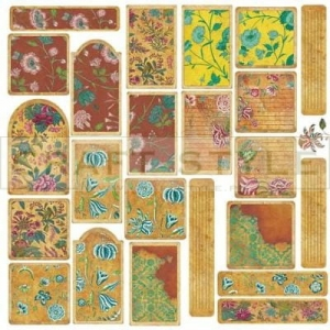 S244 Retro flowers tag arkusz 30x30