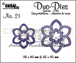 Wykrojnik CreaLies - Duo Dies no. 21 Flowers 12