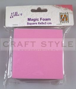 Magic foam KWADRAT 8cm pianka do odbitek