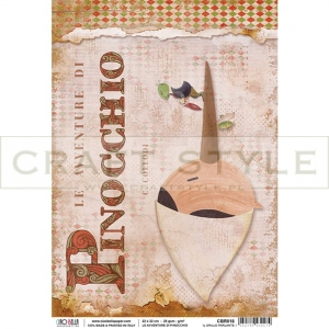 CBR018 Avventure di Pinocchio Collection - papier ryżowy A4