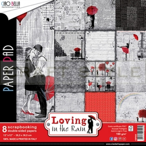 Loving in the Rain Collection - papier zestaw 8 arkuszy 30,5x30,5