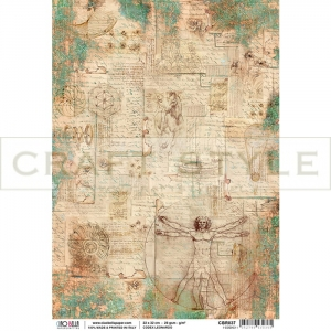 CBR037 Codex Leonardo Collection - papier ryżowy A4