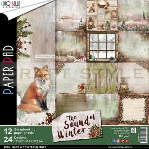 Sound of Winter Collection  - papier zestaw 12 arkuszy 30,5x30,5 /3/