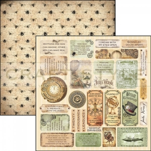 CBSS073 Voyages Extraordinaires Collection - papier 30,5x30,5 cm