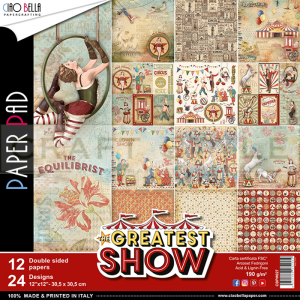 The Greatest Show Collection  - papier zestaw 12 arkuszy 30,5x30,5