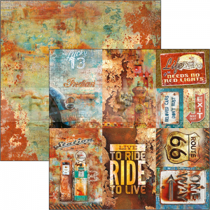 CBSS086 Collateral Rust Collection - papier 30,5x30,5 cm