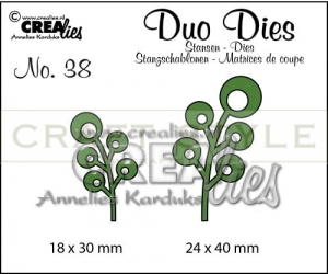 Wykrojnik CreaLies - Duo Dies no. 38 Leaves 6