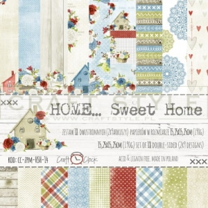 Papier do scrapbookingu HOME... SWEET HOME 15x15 cm  (zestaw)