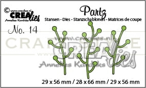 Wykrojnik CreaLies - Partz dies no. 14 Twigs