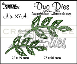 Wykrojnik CreaLies - Duo Dies no. 37A Leaves 5 mirror image